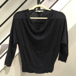LOFT dark navy blue cowl neck turtle neck sweater